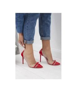 Pantofi stiletto Horizon Rosii