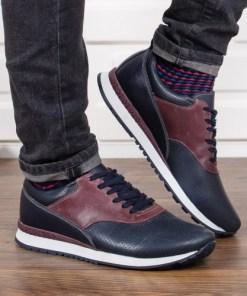 Pantofi barbati Piele Alann bleumarin casual