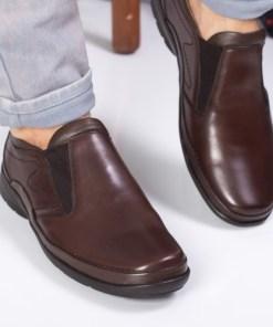 Pantofi barbati Piele Petersen maro casual