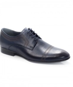 Pantofi Piele Porteus albastri eleganti