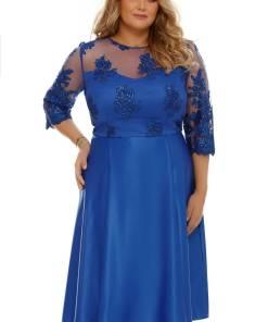 Rochie Plus Size Neli Albastră