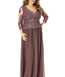Rochie Plus Size Rose Prună