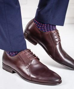 Pantofi Piele Cooper maro eleganti
