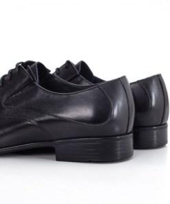 Pantofi Piele Inisari negri eleganti