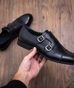 Pantofi Piele Ufeli negri eleganti