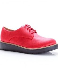 Pantofi Maxil rosii tip Oxford