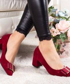 Pantofi Naifa rosii cu toc