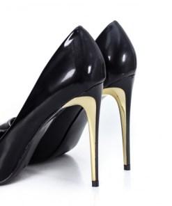Pantofi Sirmi negri cu toc