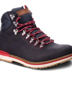 Trappers TOMMY HILFIGER - Outdoor Hiking Detail Boot FM0FM01755 Midnight 403