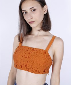 Top zara portocaliu din dantela orange
