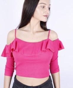Top zara roz cu volane mina meryli