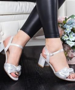 Sandale Lorelima argintii cu toc