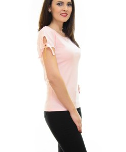 Tricou Belle Sleeve Pink