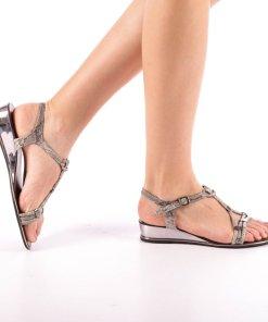 Sandale dama Godson gri inchis