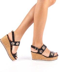 Sandale dama cu platforma Anka negre