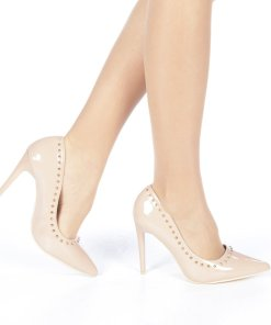 Pantofi stiletto Desiree bej