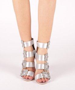 Sandale dama Mariela argintii