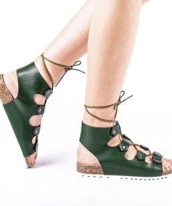Sandale dama Makeena verzi