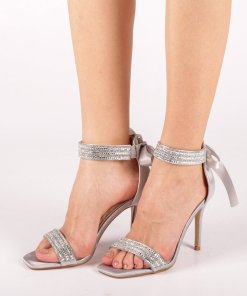 Sandale dama Adela argintii