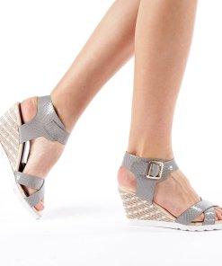 Sandale dama cu platforma Judy gri