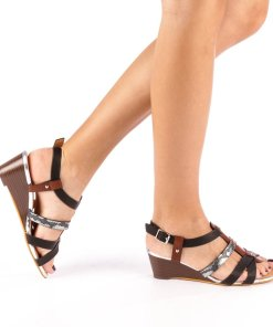 Sandale dama cu platforma Cadis negre