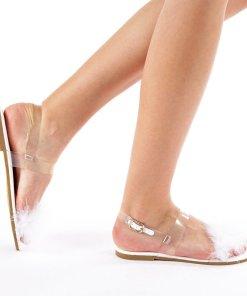 Sandale dama Mara albe