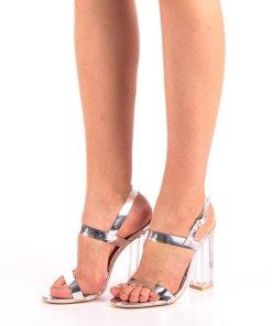 Sandale dama Lucila argintii
