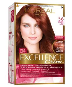 Vopsea de par permanenta cu amoniac L'Oreal Paris Excellence Creme 5.6 Visiniu Intens, 192 ml