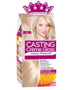 Vopsea de par semi-permanenta fara amoniac L'Oreal Paris Casting Creme Gloss Glossy Princess 10.21 Blond Deschis Perlat, 180 ml