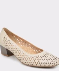 Pantofi ARA crem, 35862, din piele naturala
