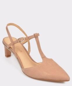 Pantofi CLARKS nude, Ellilol, din nabuc