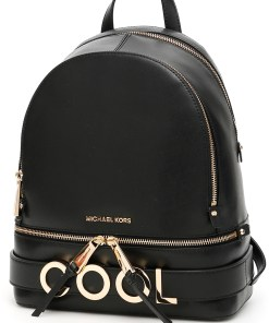 Michael Kors Rhea Lettering Backpack BLACK