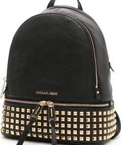 Michael Kors Studded Rhea Backpack BLACK