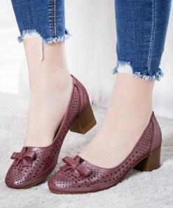 Pantofi Piele Calima visinii cu toc