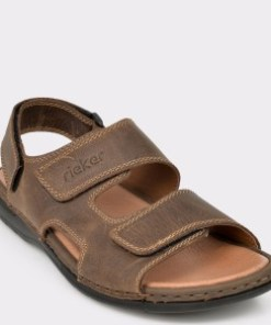 Sandale RIEKER maro, 25558, din piele naturala