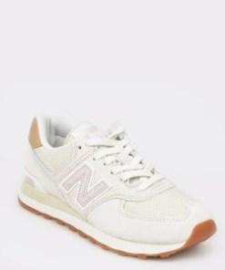 Pantofi sport NEW BALANCE albi, Wl574, din material textil
