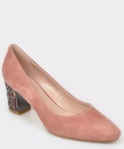 Pantofi EPICA nude, Bu001, din piele intoarsa