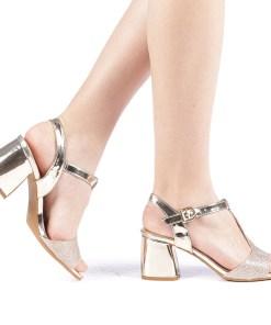 Sandale dama Cecilia aurii