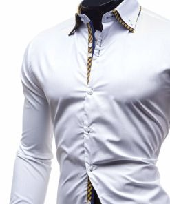 Camasa eleganta cu maneca lunga alb 4708