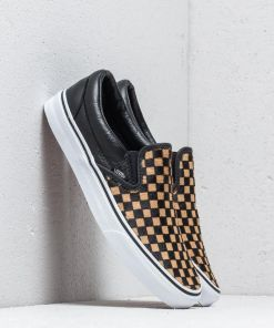 Vans Classic Slip-On (Calf Hair) Checkerboard/ True White