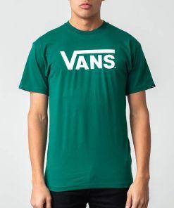 Vans Classic Tee Evergreen/ White
