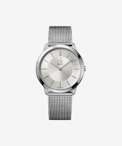 Calvin Klein Minimal Ceas pentru Bărbați - 59581 - culoarea Argintiu