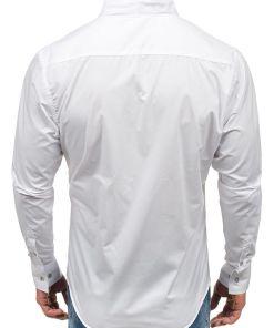 Camasa pentru barbat cu maneca lunga alba Bolf 5702