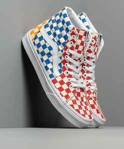 Vans SK8-Hi (Checkerboard) Multi/ True White