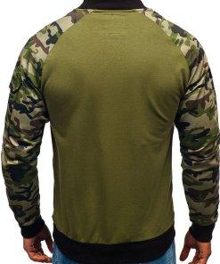 Bluza pentru barbat fara gluga camuflaj-verde Bolf 0443