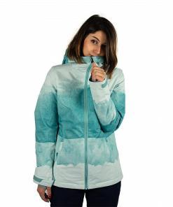 Jacheta Sula Printed Jacket nile blue