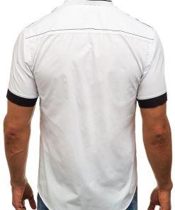Camasa eleganta cu maneca scurta pentru barbat alba Bolf 6513