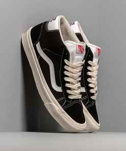 Vans Og Mid Skool 37 L (Suede/ Canvas) Black/ White