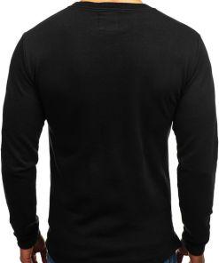 Bluza fara gluga cu imprimeu pentru barbat neagra Bolf 9096