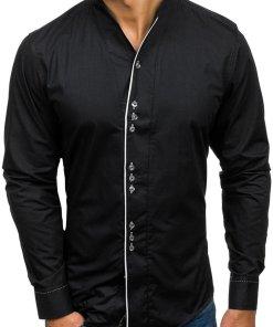 Camasa cu maneca lunga pentru barbat neagra Bolf 5720